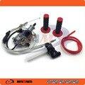 Alto Rendimiento KEIHIN Carburador PZ30 30mm Chorro de Energía de la Bomba de Aceleración + Visiable IRBIS Twister + Dual Cable Del Acelerador + APRETONES