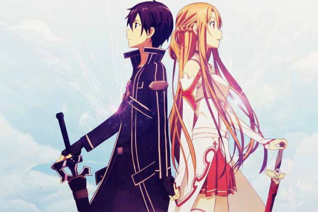 Custom wallpaper classical sword art online asuna and kirit prints custom wallpaper classical sword art online asuna and kirit prints posters canvas printed 27x40cm home party sisterspd