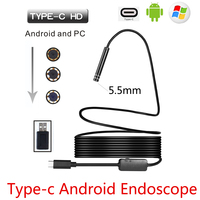 5 5mm USB Type C Android Endoscope Camera Flexible Snake USB Type C Hard Wire 1M