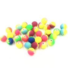 50Pcs Mixed Colourful Spacer Beads Round Acrylic Fashion Jewelry DIY Making Findings Charms 10mm