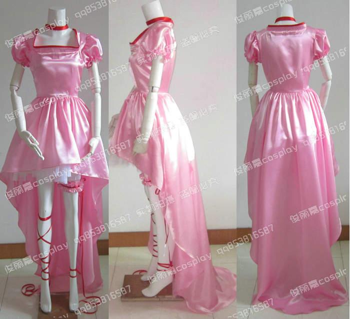 Free shipping Japanese font b Anime b font Cardcaptor Sakura Pink Dress font b Cosplay b