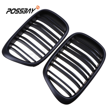Car-Styling Racing Grilles For BMW 5-Series E39 M5 1998-2003 Matte Black Front Grilles Double Line Grill Auto Exterior Parts