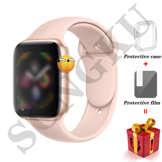 IWO 8 PLUS 44mm Watch 4 Heart Rate Smart Watch case for apple iPhone Android phone IWO 5 6 9 10 upgrade NOT apple watch
