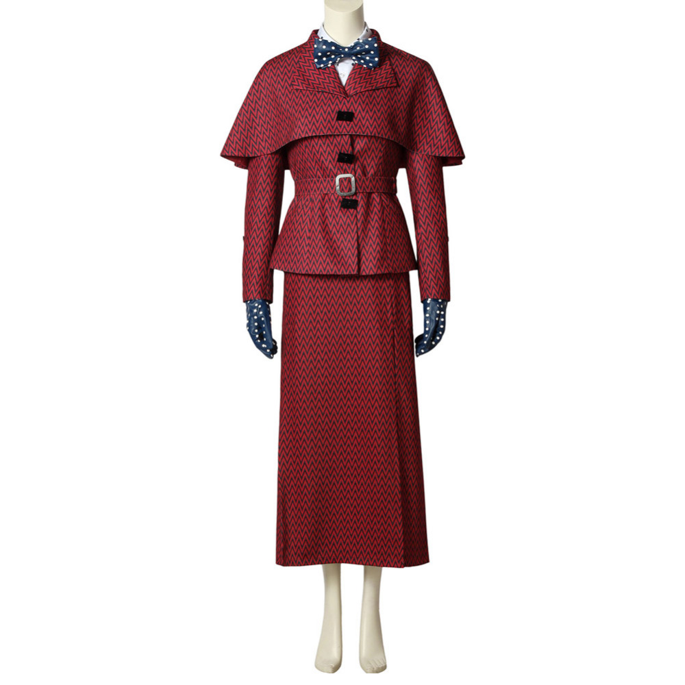 Mary Poppins Cosplay Costume Dress Halloween Adult Girls Women Cosplay Costume