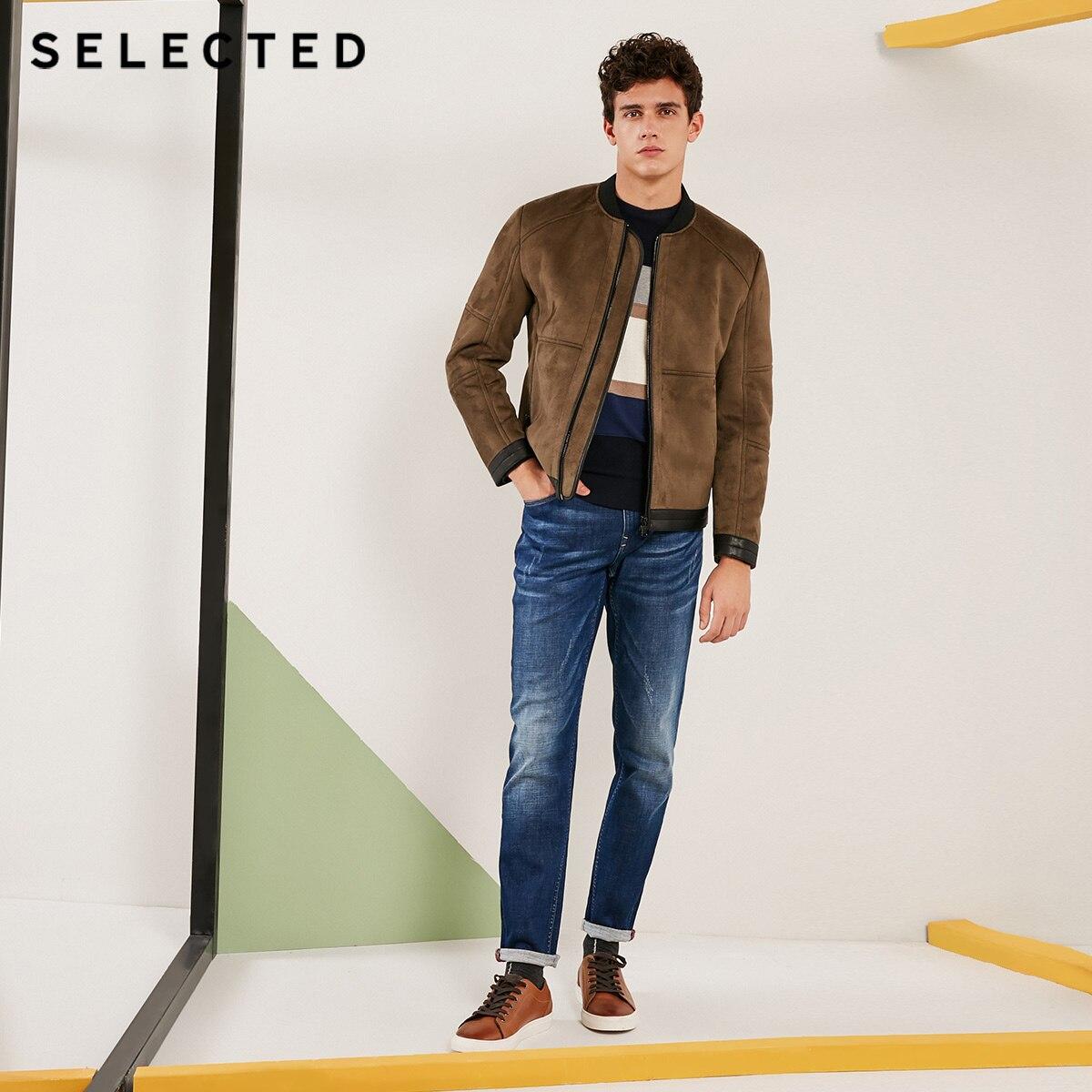 Erkek Kıyafeti'ten Yapay Deri Paltolar'de Seçilen yeni kış deri ceket erkek uzun kollu iş eğlence PU ceket S  4184P3510'da  Grup 2