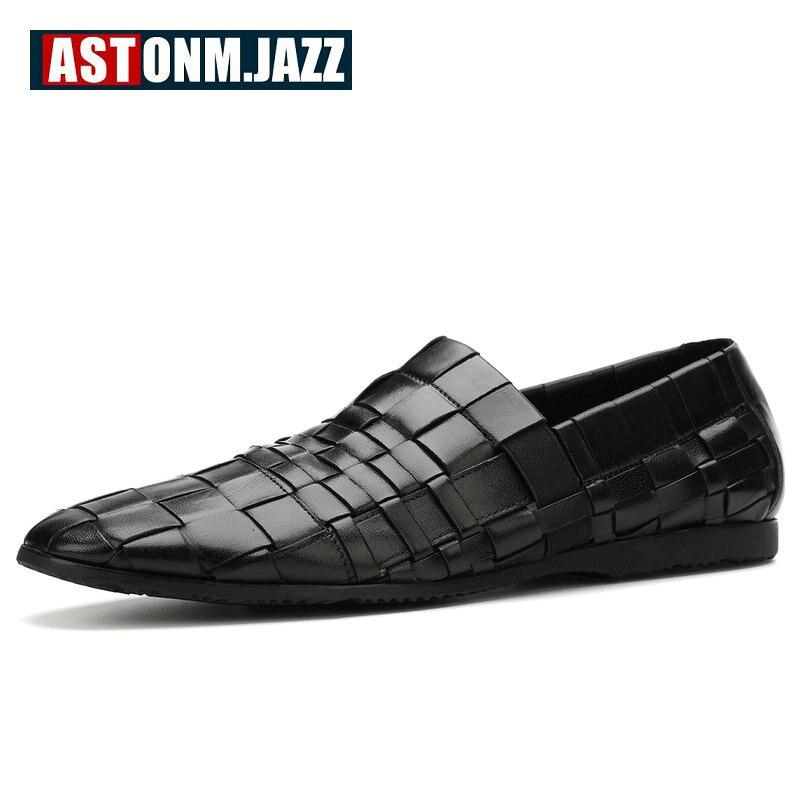 Hommes en cuir chaussures décontractées en cuir véritable chaussures hommes mocassins respirant sans lacet à la main formelle Oxford chaussures pour hommes grande taille 11 46 - 3