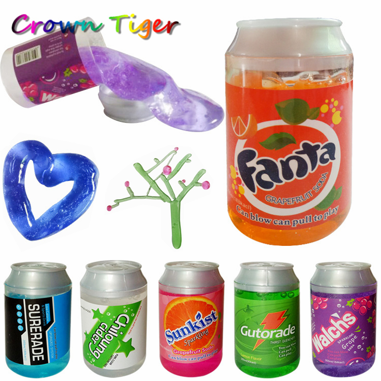 Crystal slime DIY draw Mud blow bubbles transparent slime Non-toxic/magnetic Handgum Polyer clay creative kid children funny toy
