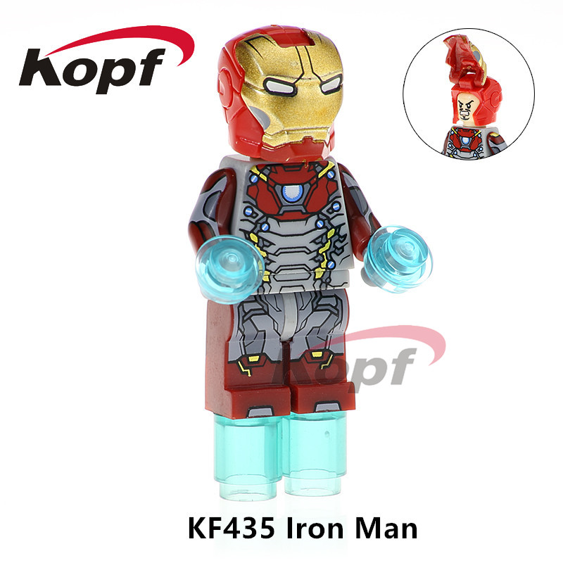 Building Blocks Single Sale Iron Man Captain America Supergirl Trickster Dolls Super Heroes Bricks Children Gift Toys KF435 single sale iron man hulk buster batman captain america super heroes building blocks bricks toys for children decool 0160 0168
