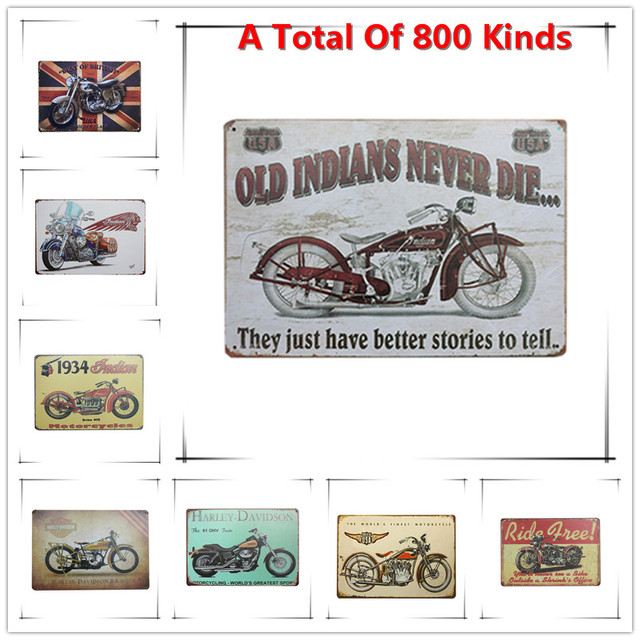 New Chic Home Bar Old Indian Moto Vintage Metal Signs Home Decor Vintage Tin  Signs Pub