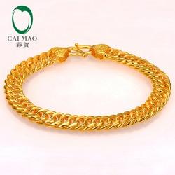 Pulsera de enlace de oro 999 puro de 24K de CAIMAO con diseño genuino para hombre, Boutique, regalo de compromiso de boda fino, fiesta clásica de moda