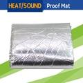 50CM x 100CM Car Truck Boat Heat Proof Sound Shield Insulation Material Mat Noise Control Deadening Aluminum Foil Deadener