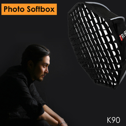 Triopo 90cm Photo Portabe Softbox w/ Honeycomb Grid K90 Bowens Mount Octagon Umbrella Outdoor Soft Box for Godox Jinbei Strobe