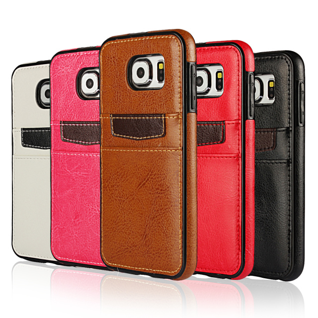 For Samsung Galaxy S5 S6 Edge S7 Edge S8 Plus Note 4 5 Leather Case Back