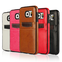 For Samsung Galaxy S5 S6 Edge S7 Edge S8 Plus Note 4 5 Leather Case Back Cover Full Protector Credit Card Slot Soft Accessories