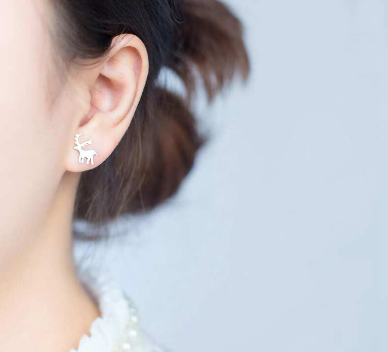 c9b5f35ba4f2e Christmas Tree Stud Earrings