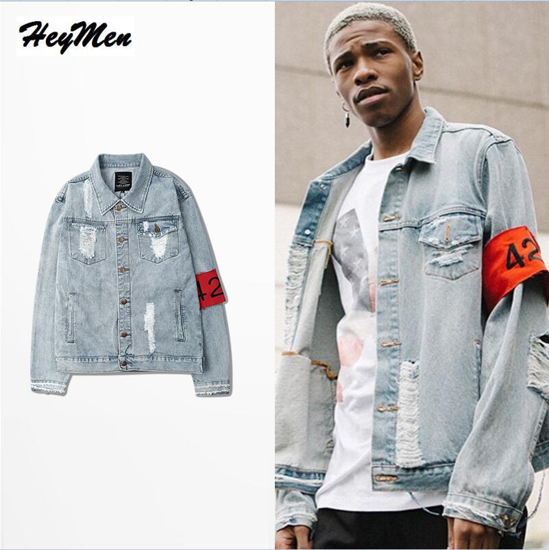 superb ripped denim jacket outfit men 16