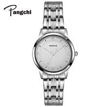 PANGCHI роскошные женские Водонепроницаемый Кварцевые наручные часы Нержавеющаясталь браслет платье смотреть Креативные часы Любовь Подарки Часы Reloj