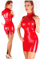 Latex Dress Sexy Women Summer Rubber Dress Party Latex dress