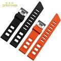 Correa de silicona de goma pulsera pulsera de la correa relojes del deporte a prueba de agua banda 20 mm naranja negro color de accesorios cinturón