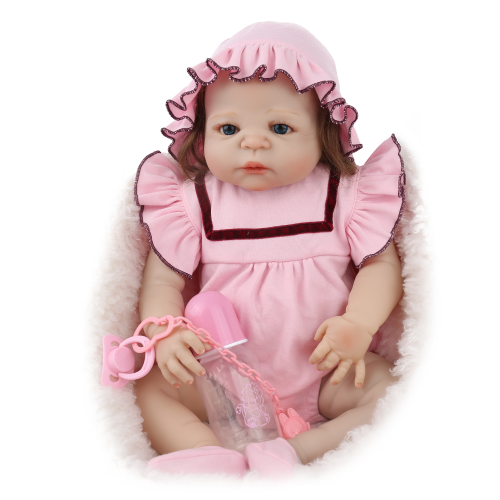 NPKDOLL Reborn Doll Baby Full Body Silicone Newborn Babe Bonecas 22 Inch 55cm Vinyl girls toys doll Big Promotion Groot гусаров андрей юрьевич путеводитель по петербургу isbn 978 5 227 06899 6