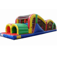 Inflatable obstacle course  for sale giant children amusement park obstacle course