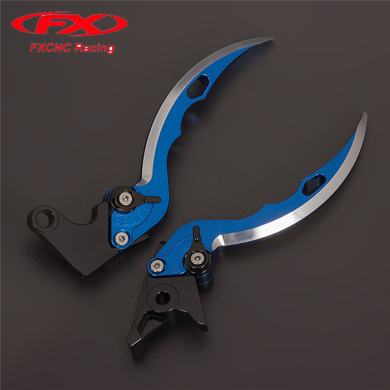 FX CNC Aluminum Adjustable Motorcycle Knife Blade Brake Clutch Levers For Yamaha YZF600R Thundercat 1999 - 2007 2006 05 04 03 02 cnc long adjustable racing clutch brake levers for yamaha yzf r1 2004 2005 2006 2007 2008
