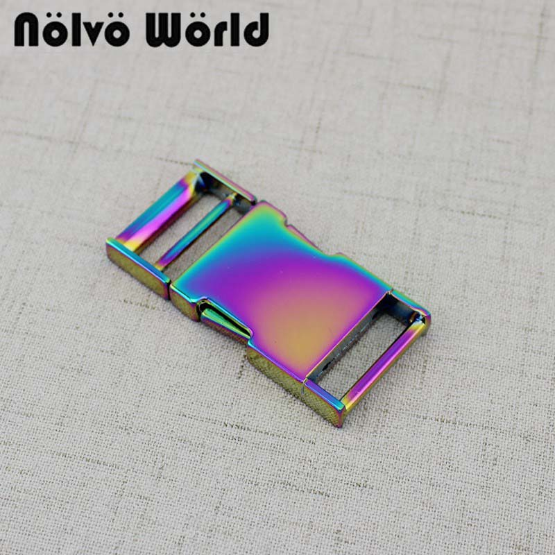 5-10-30 Pieces 2.5cm 1 Inch Rainbow Dog Collar Slider Buckles,Personalized Release Buckles Strap Adjuster