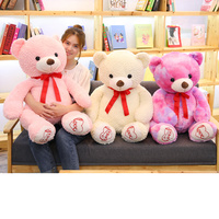100cm Cute Kawaii Teddy Bear Stuffed Animal Bears Plush Toys for Girls Christmas Valentine Gift Brinquedos