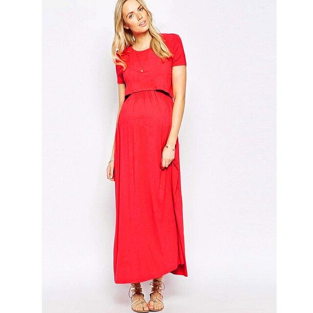 más nuevo mejor calificado Boutique en ligne Venta caliente 2019 Ropa De maternidad MAGGIE'S WALKER vestido noche elegante mujeres  embarazadas Vestidos lactancia Fiesta embarazo