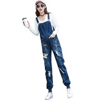 Maternity Jeans Overalls Suspender Pants Jumpsuits For Pregnant Women Pregnancy Romper Frayed Prop Belly Denim Trousers