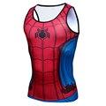 3D Impresso Camisetas superman capitão América Homem Aranha Capitão América Deadpool Guerra Civil de fitness de fitness masculino Regatas