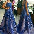 Vestidos Madre de La Novia Elegantes 2016 Nuevo Azul Real Vestidos de Noche Elegante vestido de Fiesta Largo Vestido de Fiesta