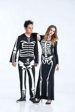 Couple Skeleton Halloween Costume Fancy Dress One piece
