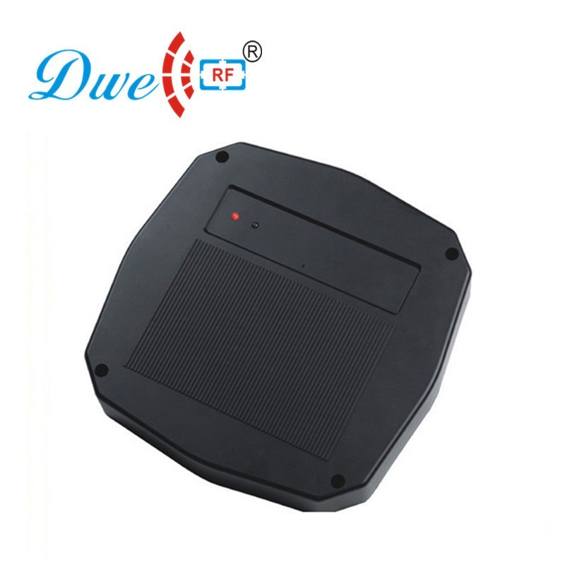 DWE CC RE RFID card reader classical black waterproof for car parking sensor system wiegand 26 or 34 RS232 001Z hot sale automatic rfid card ticket vending issuing machine for intelligent parking system
