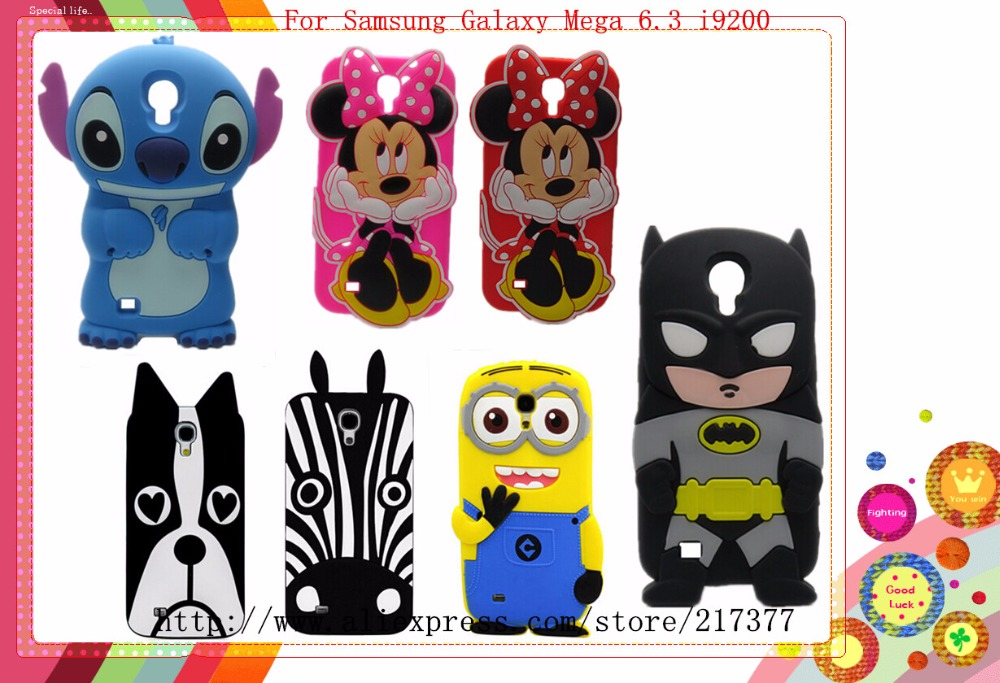 For SAMSUNG GALAXY Mega 6.3 I9200 case 3D Cartoon Dog Zebra Minnie ...
