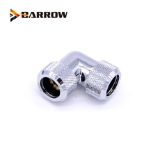 4pcs/lots G1/4'' thread Dual 90 Degree Rotary Fitting Adapter Rotating 90 Angle Adaptors use for OD12mm/14mm/16mm Hard Tube цены