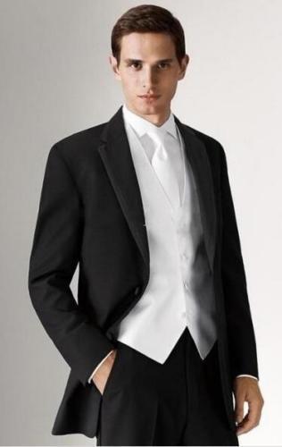 New Custom Made Slim Fit Black 3 Pieces font b Men b font Wedding Groom Tuxedos