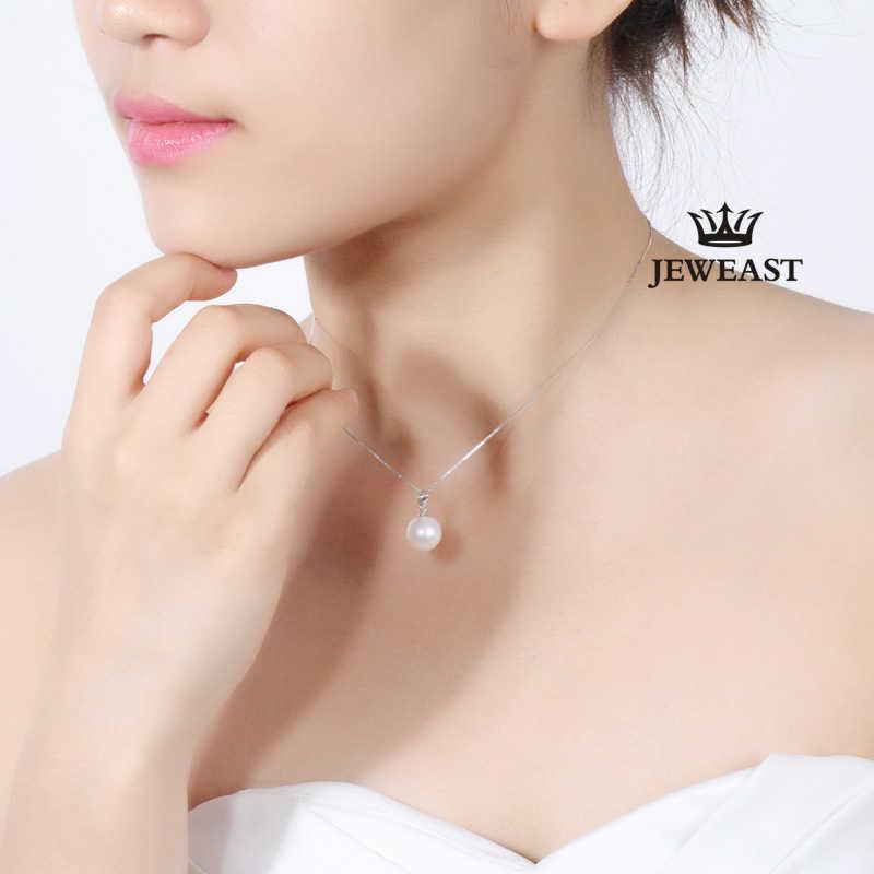 18 k чистый золотой натуральный пресноводный жемчуг кулон простой классический Благородный Шарм Подлинная Женская Девушка мисс подарок носить вечерние, Настоящее 100%