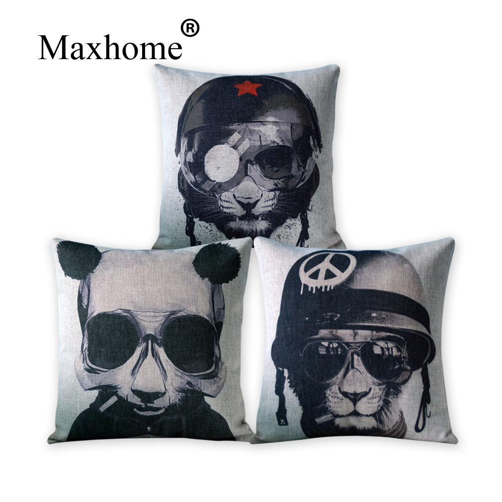 cool throw pillows  roselawnlutheran - cartoon soldier cotton linen pillowcase sofa room square cool panda decorativepillow home decor throw pillow