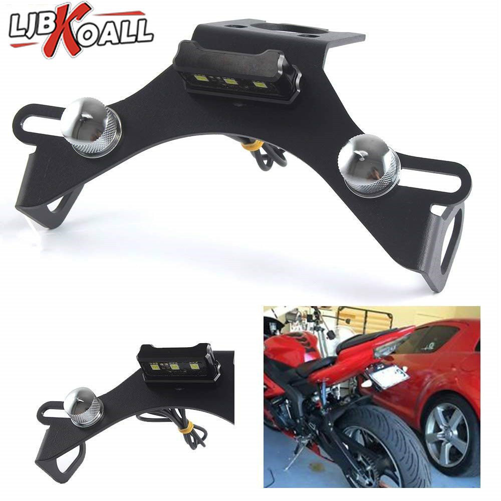 New License Plate Holder FOR YAMAHA YZF R6 2006 2016 Motorcycle Accessories Tail Tidy Fender Eliminator Bracket Aluminum Number-in License Plate from Automobiles & Motorcycles    1