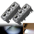 Pair Universal 9W Motorcycle Car Truck 3-LED DRL Daytime Running Fog Lamp 6000K LED Light Bar for YAMAHA BMW HONDA KAWASAKI KTM
