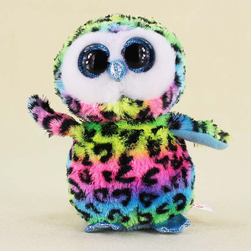 15 см Ty Beanie Боос большие Средства ухода для век Плюшевые Kawaii куклы детского дня рождения красочные сова Мягкие Животные детские