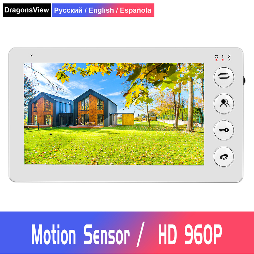 Video Door Phone Wired Video Intercom For Home 7 Inch 960P Monitor With Motion Sensor Support CCTV Camera And Electronic Lock