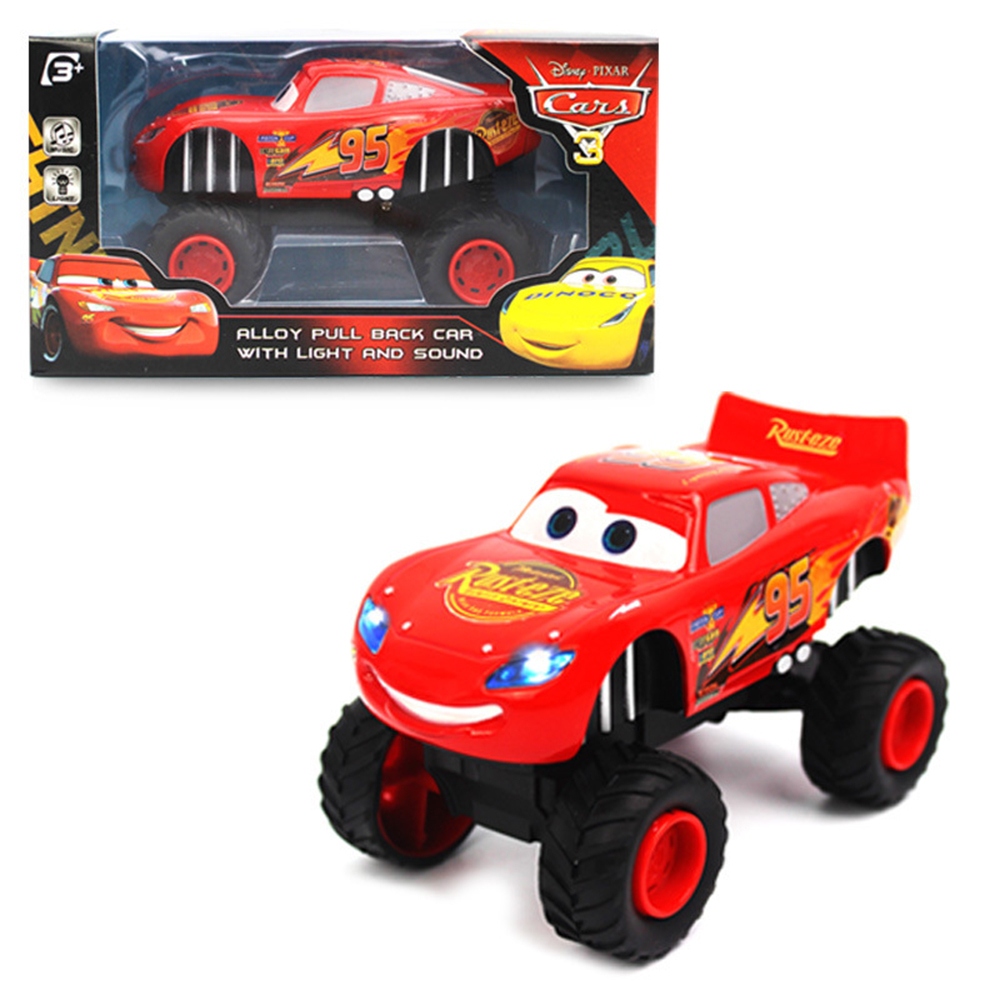 1:32 Car Toys For Children Mrqueen Pull Back with Acousto-optic Music Alloy Feet General Mobilization Car Racing Model Toy Car