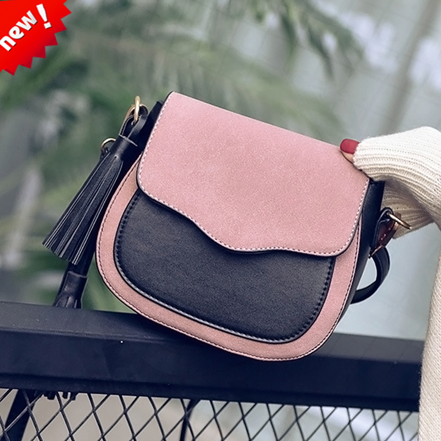 Hot women Scrub Handbags Casual Fashion tassel ladies Shoulder Bag High Quality PU Leather Messenger Women Bags Crossbody Bags new fashion women pu leather vintage messenger bag ladies mini lock flip shoulder bag high quality girls casual crossbody bags