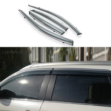 цена на Car Sun Rain Vent Guard Shield Delflector Window Visor Awnings 4Pcs/Set Cover Trim Auto Accessories For Mitsubishi ASX 2013-2018