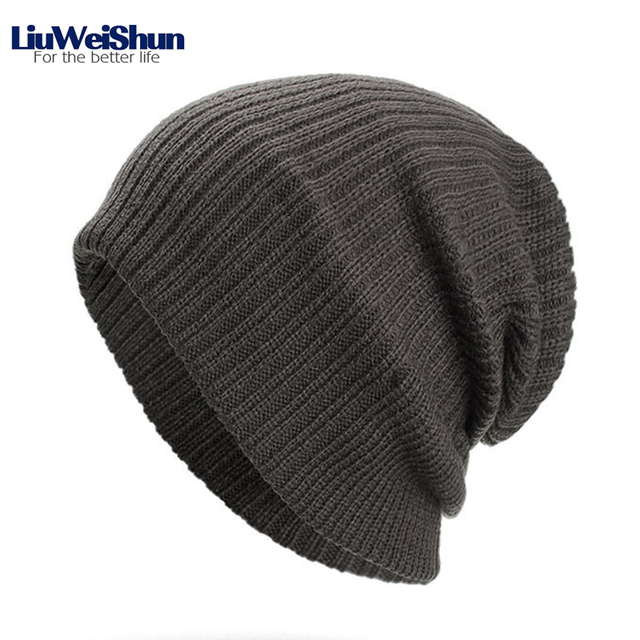 6da40f4d4f9 2018 Winter Casual Striped Beanies Hat For Men Women Unisex Autumn Knit Hats  Male Warm Hats