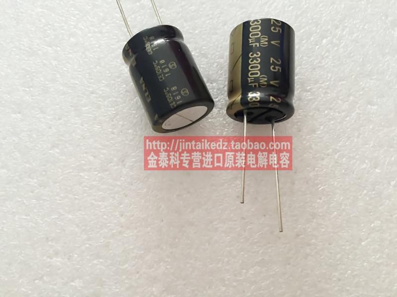 20PCS/50PCS ELNA audio fever capacitor 25V3300UF 16X20 RA3 Electrolysis Black Gold free shipping