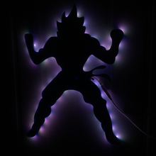 1Piece Remote Controlled LED Dragonball Z Goku Nightlight Wall Art Kids Children Atmosphere LED Wall Light With Color Changing