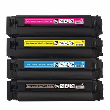 1 Pack Compatible for HP 203A CF540A CF541A CF542A CF543A toner cartridge with chip for HP Laser Jet Pro M280NW/M254nw/M281FDW